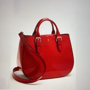Kate Spade Sylvie Red Patent Handbag w/Crossbody